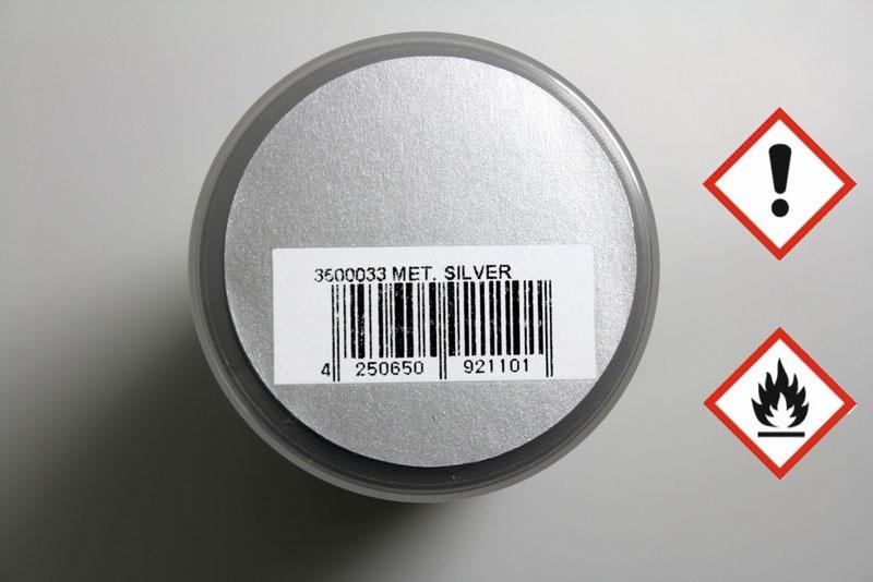 PAINTZ metallic silber 150ml Polycarbonat Spray - Lexanfarbe