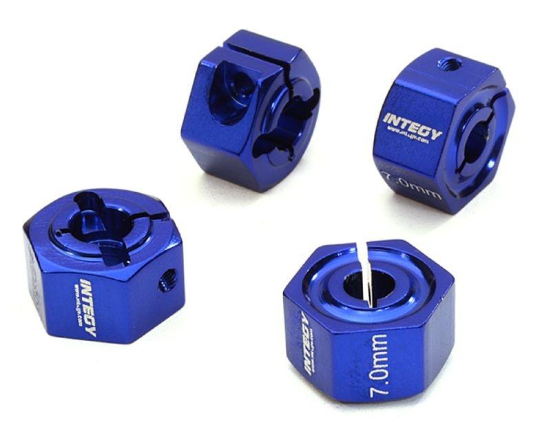 Alu Radmitnehmer 12mm Sechskant 7mm Breit für 1:10 blau
