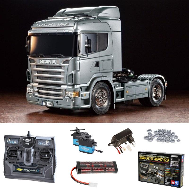 Scania R470 Silber 1:14 Truck Set inkl. MFC-03, Kugellager