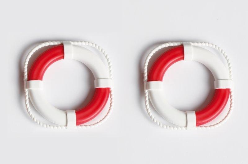 Rettungsring 40mm, rot/weiß (2 Stück)