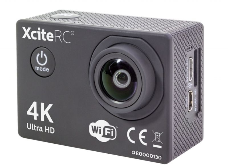 WiFi 4K Action Kamera UDH 16MP, 2 Zoll LCD Display, schwarz