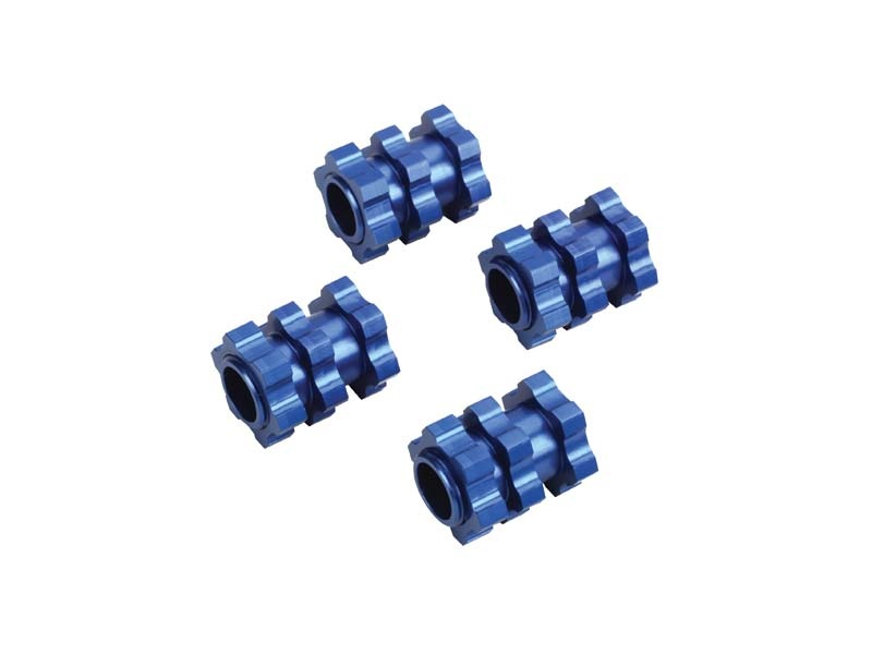 Aluminium Adapter von 12mm auf 17mm Radmitnehmer blau