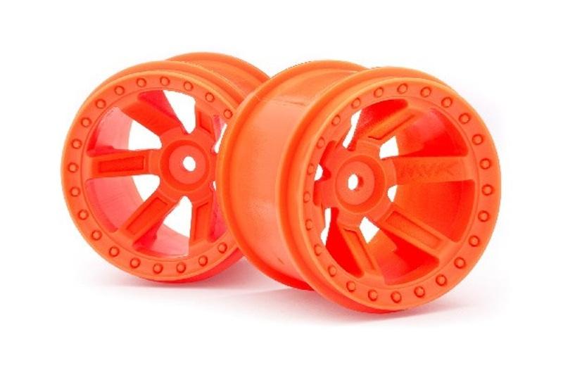 Felgen 2.8 orange 12mm für 1:10 Monster Truck - Quantum
