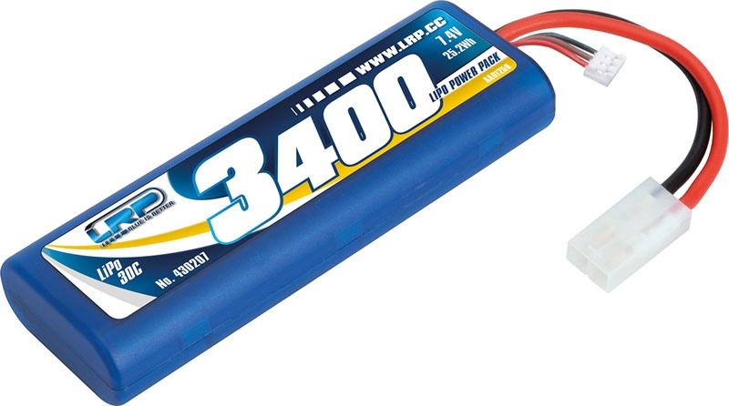 LiPo RC  Pack 3400 - 7.4V 30C Tamiya Stecker Rund