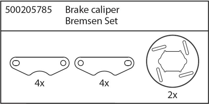 X8 Specter Bremsen-Set