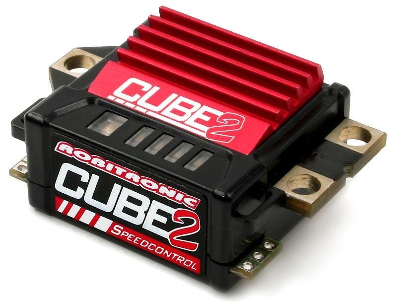 CUBE2 Brushed Fahrtenregler mit Datenaufzeichnung Rot