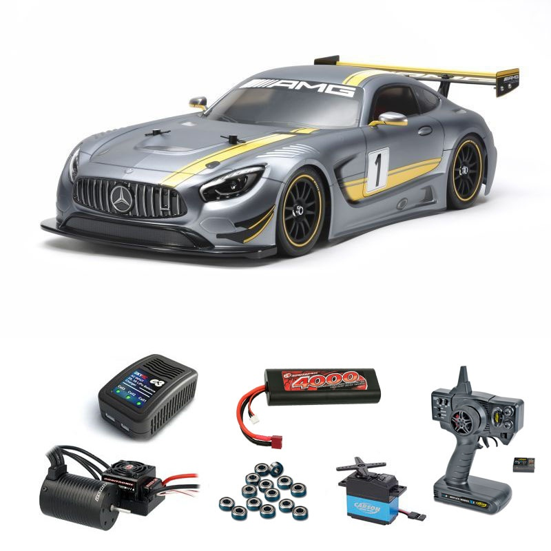 Mercedes-AMG GT3 (TT02) Kit Brushless-Edition Komplettset