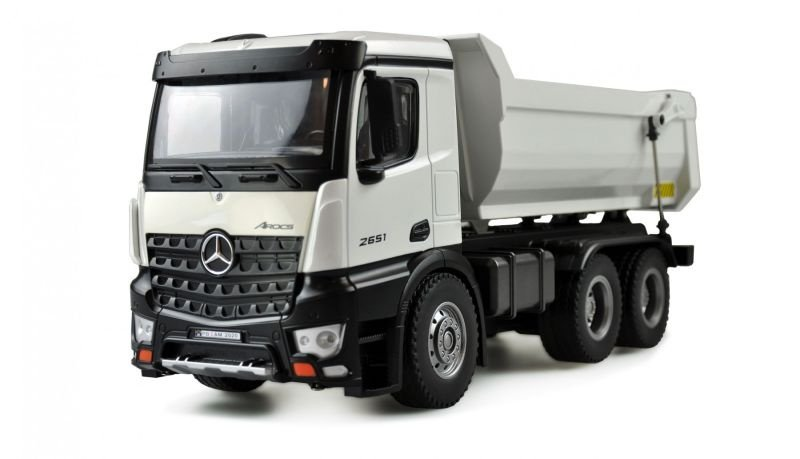 Mercedes LKW Kipper PRO Metall 1:14, 2,4GHz RTR weiß