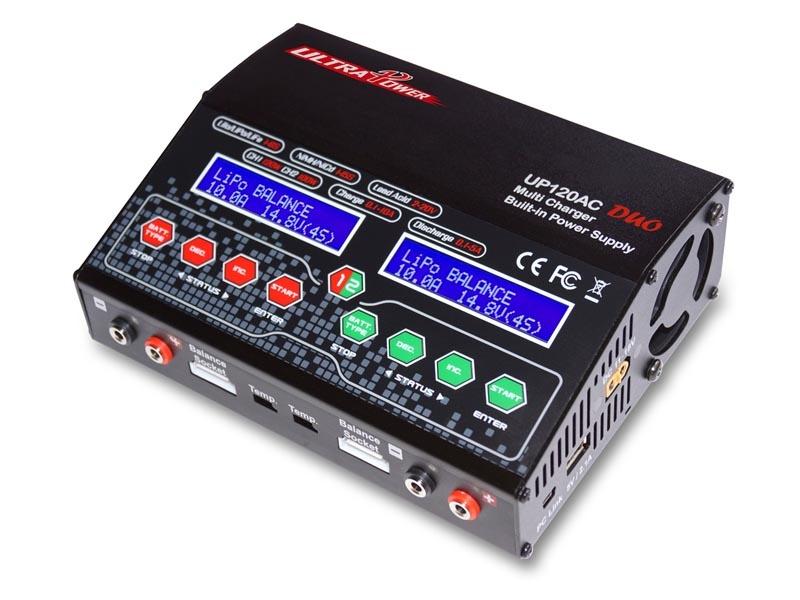 UP120AC Duo Ladegerät 220  Watt 12/220V 10A Lipo