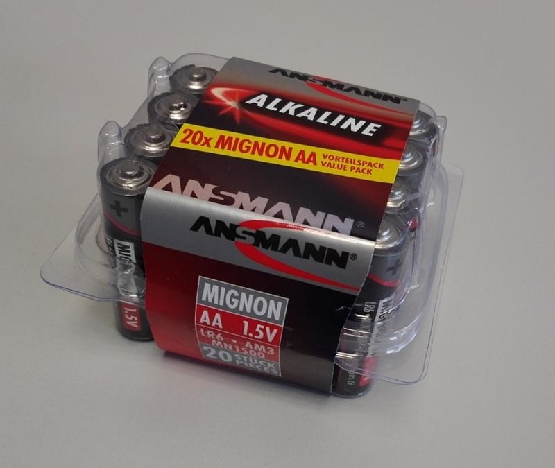 1,5V Alkaline Mignon AA Batterie-Box (20)