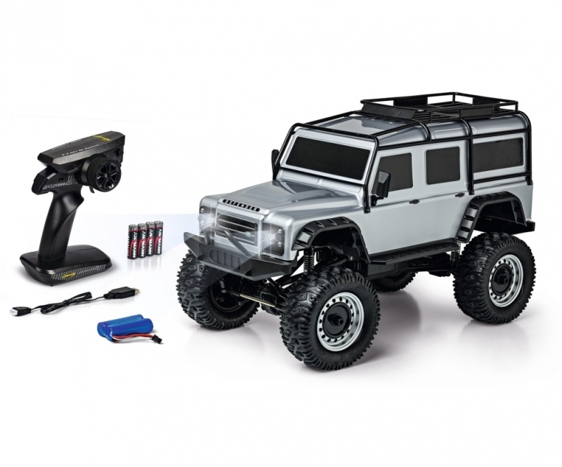 Land Rover Defender Rock Crawler 1:8 100% RTR silber