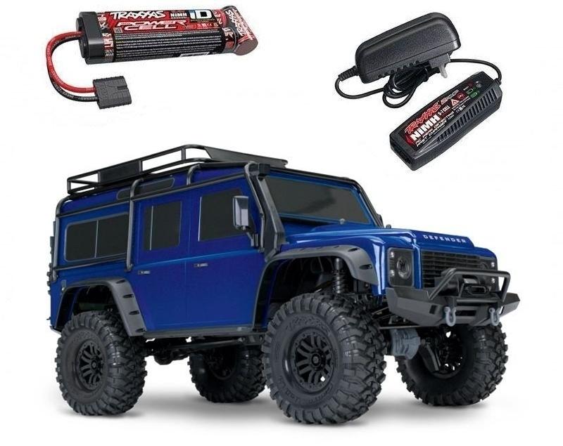 TRX-4 Land Rover Defender Crawler blau 1:10 4WD + Akku+Lader
