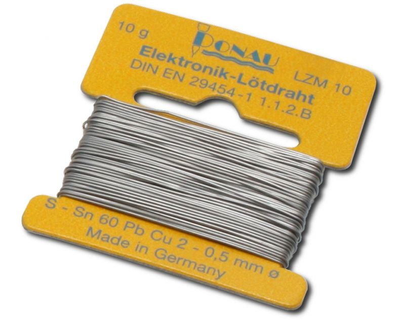Lötzinn Ø 0,5 mm Wickel 10 g