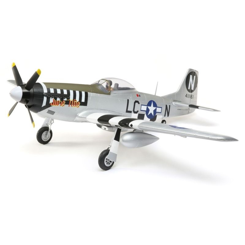 P-51D Mustang 1.2m w/AS3X and SS, Warbird BNF Basic