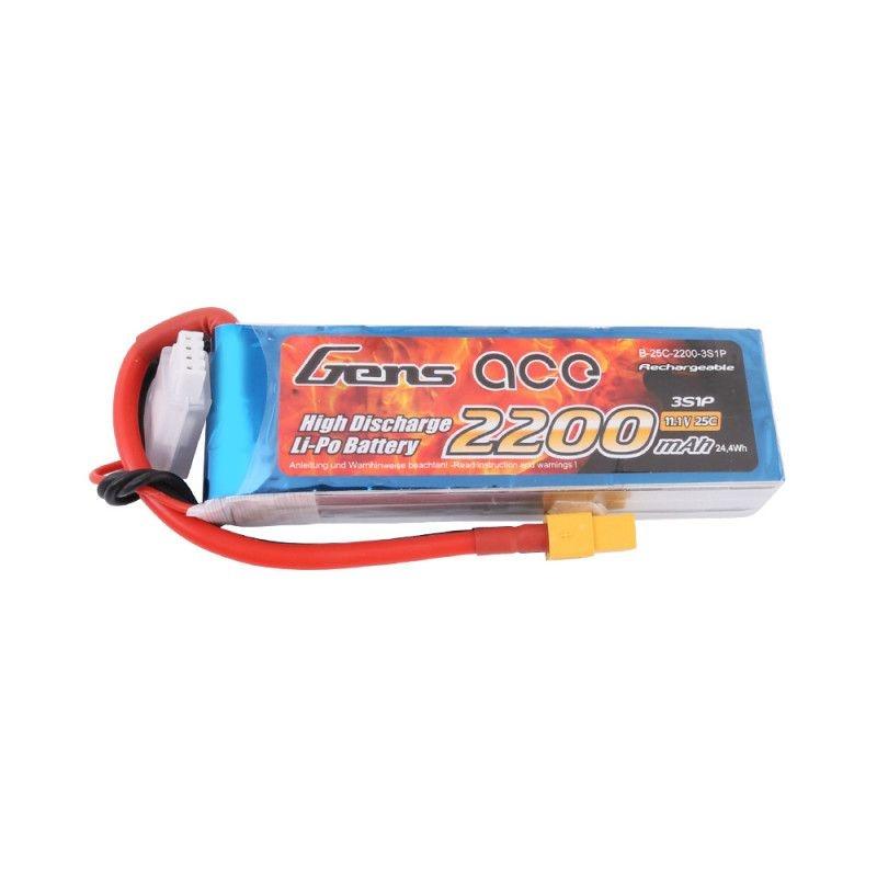 LiPo Akku 2200mAh 3S1P 11,1V 25C mit XT-60 Stecker