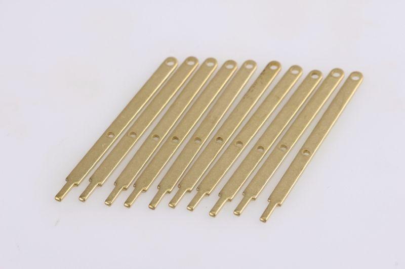 Relingstütze flach 40mm 2 Durchzüge (10 Stück)