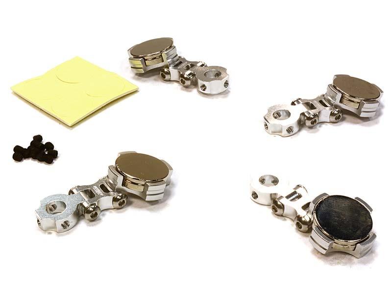 Einstellbare Magnet Karosseriehalter silber für 1/10 Drift