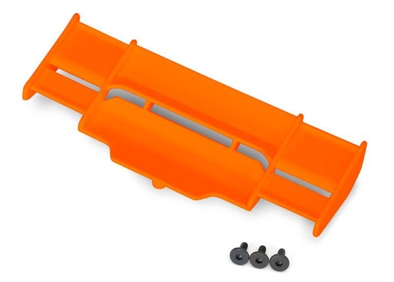 Heckflügel in orange für Rustler 4x4