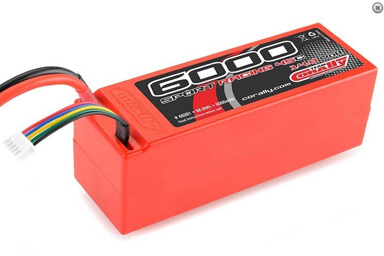 Lipo Hardcase 45C 6000mAh 14,8V 4S mit T-Stecker