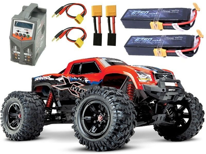 X-MAXX 8S 4WD Brushless Monstertruck redX  +2x4S Lipo, Lader