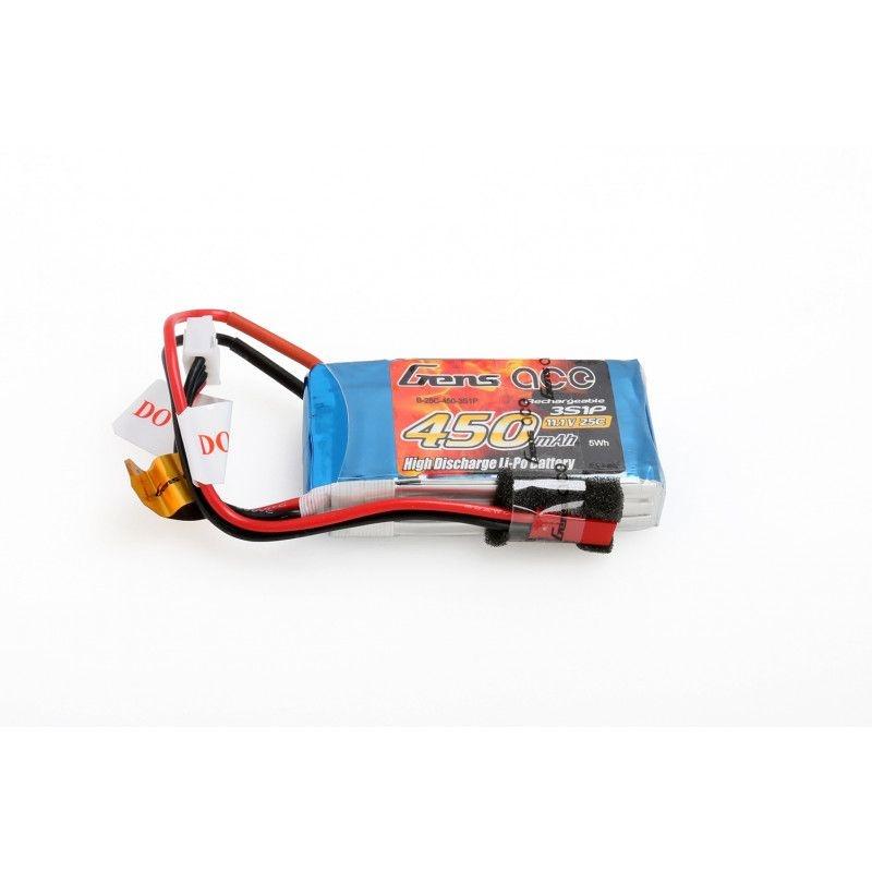 LiPo Akku 450mAh 3S1P 11,1V 25C mit JST-SYP Stecker