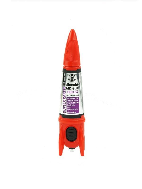 MD Glue Premium Duplex Rakete 5g mit UV-Licht aushärtend!