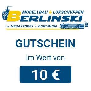 Modellbau Berlinski Geschenkgutschein 10 EUR