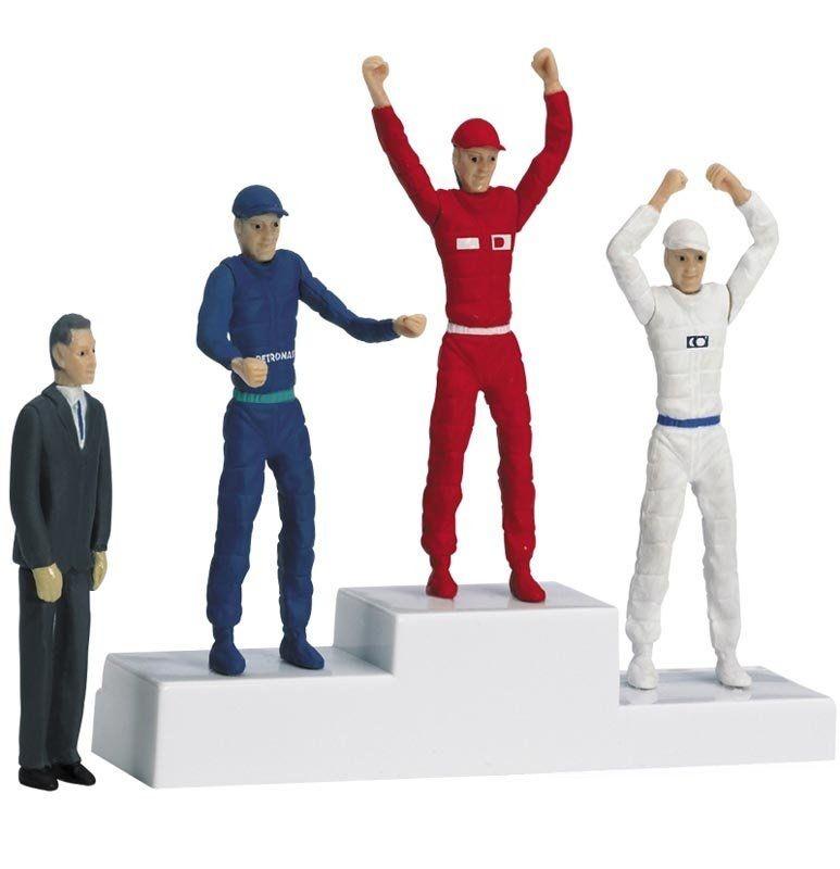 Siegerpodest mit Figuren