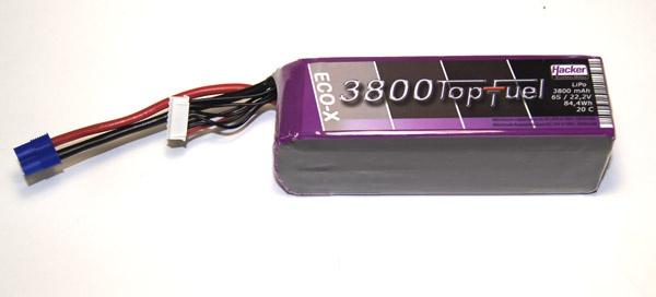 TopFuel LiPo 20C-ECO-X 3800mAh 6S