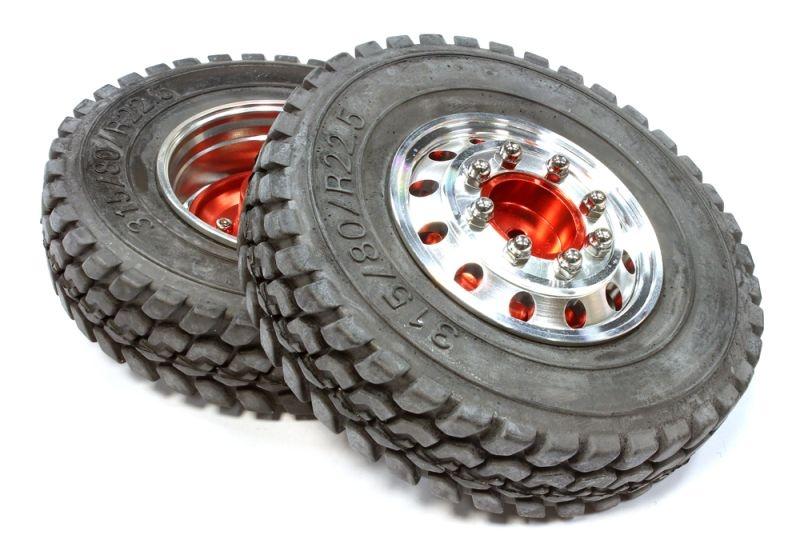 Aluminium Komplettrad für 1:14 Trucks