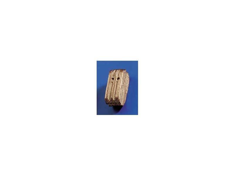 Doppelblöcke Nussbaum 10mm (10 Stück)