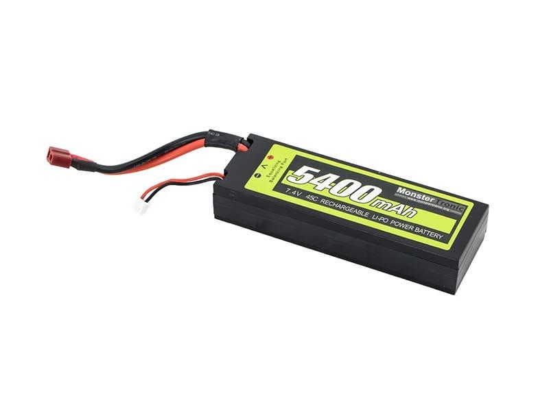 7,4V 5400mah 45C Hardcase LiPo Akku T-Plug