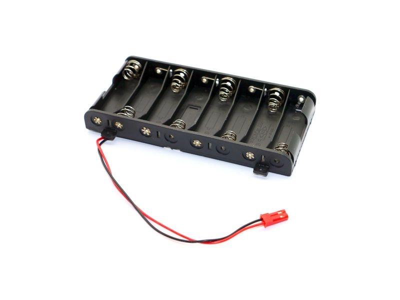Batteriehalterung 8 AA Zellen flach mit BEC Stecker