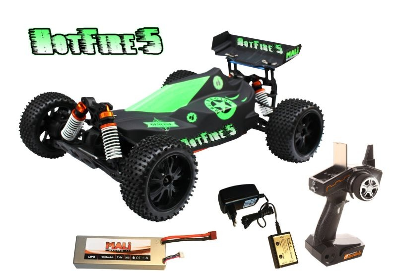 HotFire 5 Buggy 4WD Brushless-waterproof 1/10 XL 100% RTR