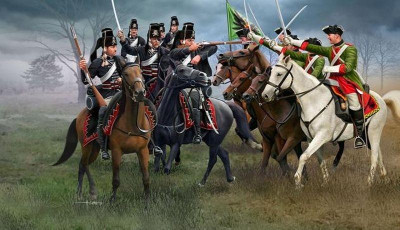 Seven Years War Austrian Dragoons+Prussian Hussars 1:72