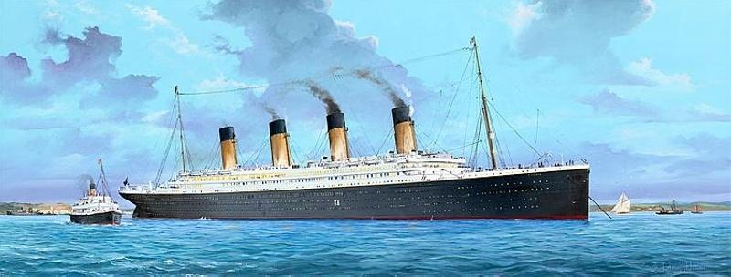 RMS Titanic Passagierschiff mit Beleuchtung 1:200 Bausatz