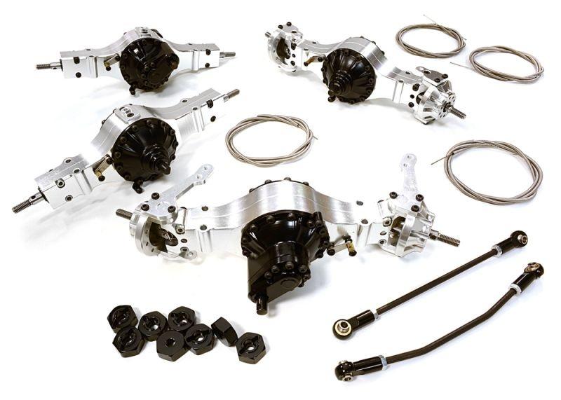 8x8 Alu Achsen Set sperrbar für 1/10 und 1/14 Fahrzeuge