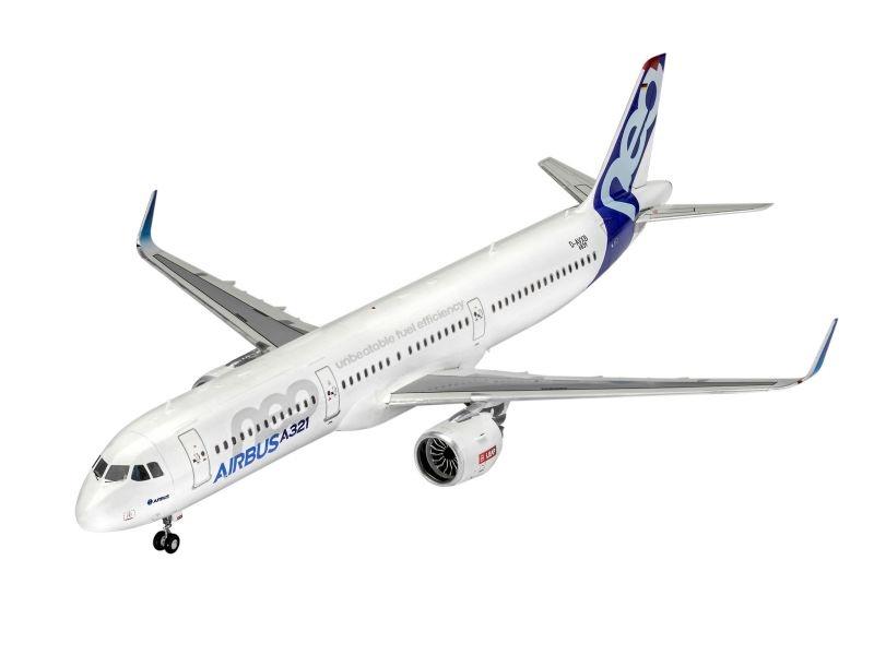 Model Set Airbus A321 Neo Bausatz inkl. Farben, Kleber 1:144