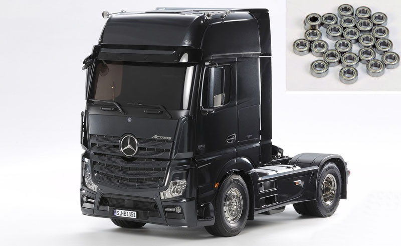 Mercedes Actros 1851 GigaSpace Black Edition + ball bearings