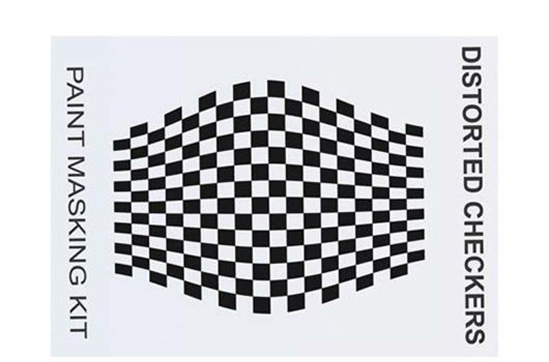 Spray Maske - Distorted Checkers
