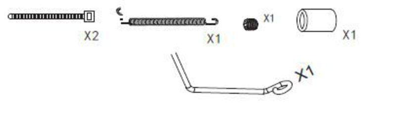 Resorohrbefestigung Set Specter / CY-Chassis