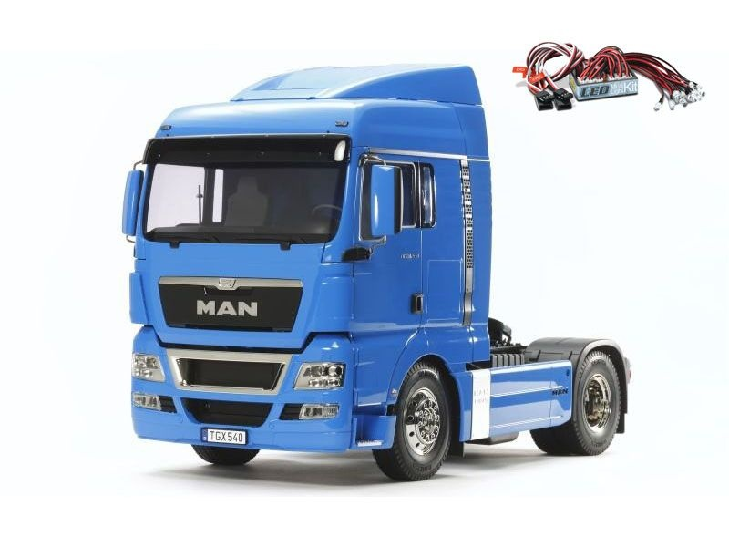 MAN TGX 18.540 4x2 XLX - French Blue 1:14 Truck + LED-Licht