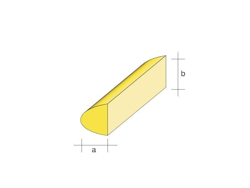 Balsa-Nasenleiste 8x15 / 1000mm symmetrisches Profil