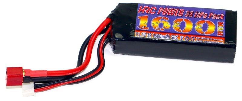 LiPo Akku 3S 11,1V 1600mAh 50C 1/16 Fahrzeuge T-Plug