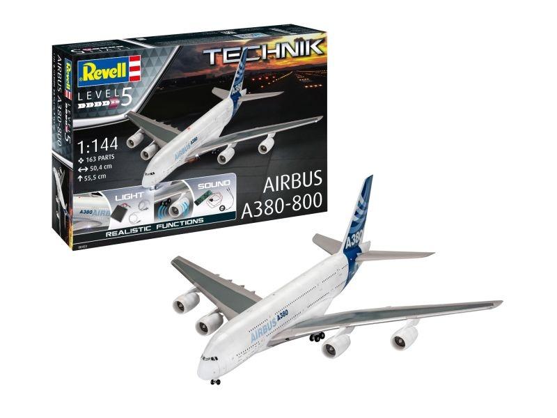 Technik Airbus A380-800 mit Licht und Sound 1:144 Bausatz
