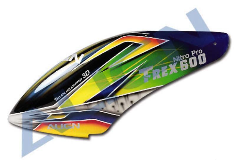 Kabinenhaube, lackiert, Airbrush-Design für T-Rex 600N