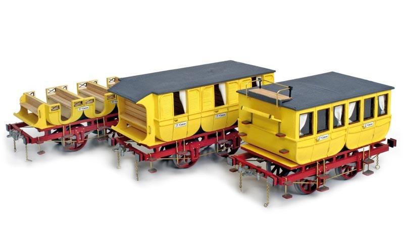 Adler Wagons (3 Modelle) 1:24 Eisenbahnwagen Bausatz