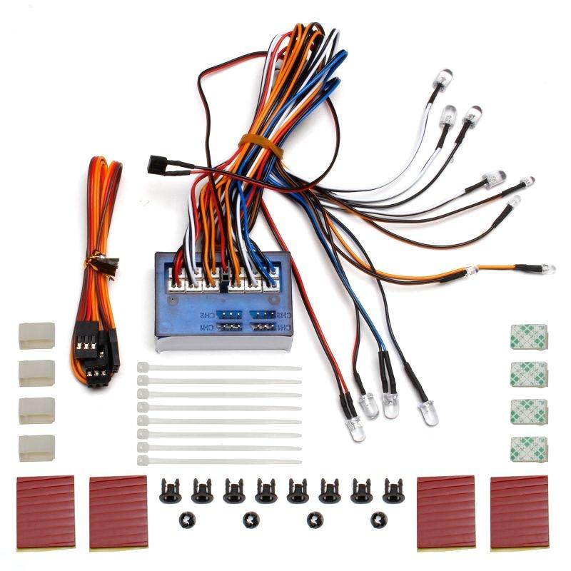 LED-Licht-Komplett-System für RC-Cars, Set