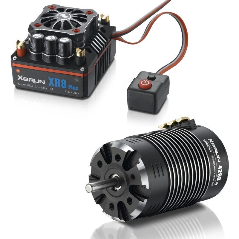 Xerun Combo XR8 Plus 3-6S Motor 4268-1900kV für 1:8 Buggy