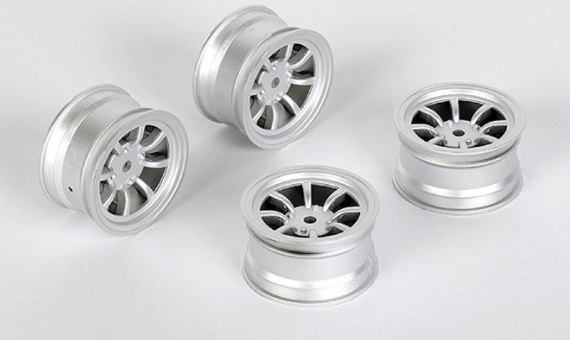 Felge 8-Speichen +1mm, 12mm Hex für M-Chassis, silber (4)